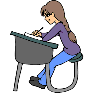 300x300 Student At Desk Clipart