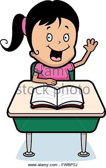 340x540 Student Class School Desk Stock Vector Images