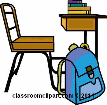 350x344 Student Desk Clipart
