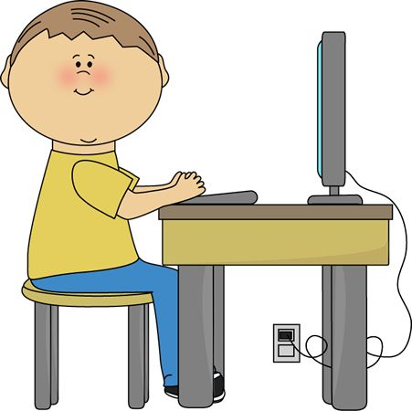 451x450 Sitting On Desk Clipart Images
