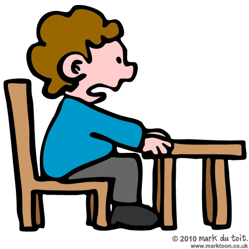 500x500 Student Not Sitting In Chair Clipart