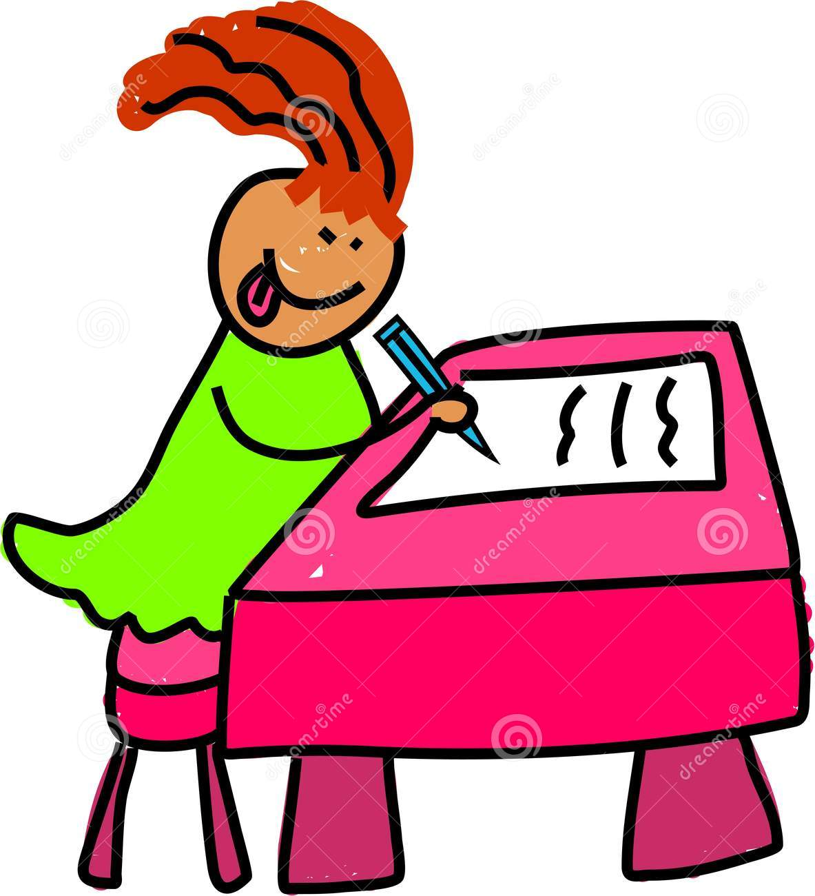1183x1300 Kid Writing At Desk Clipart