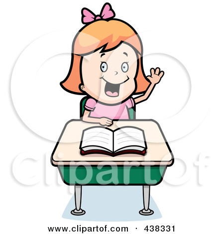 450x470 Clip Art Student Raising Her Hand Clipart