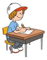 200x257 Student At Desk Clipart