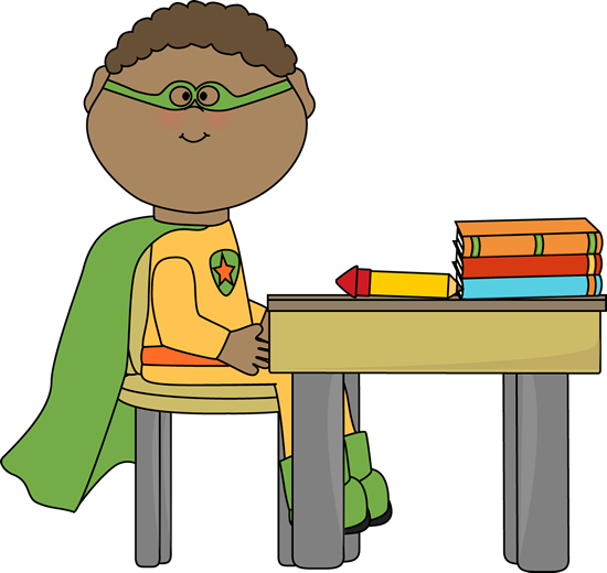 550x520 Super Hero School Clipart