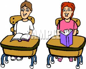300x239 Student At Desk Clipart