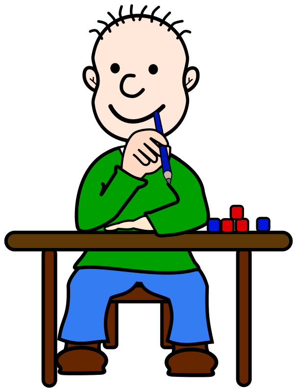 606x800 Student Listening Clipart