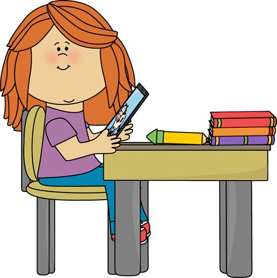548x550 Desk Clipart Elementary Student