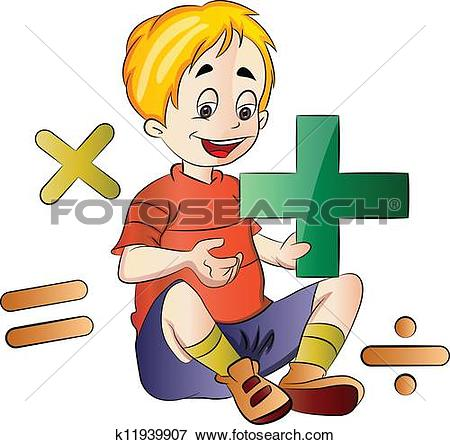 450x445 Student Studying Math Clipart