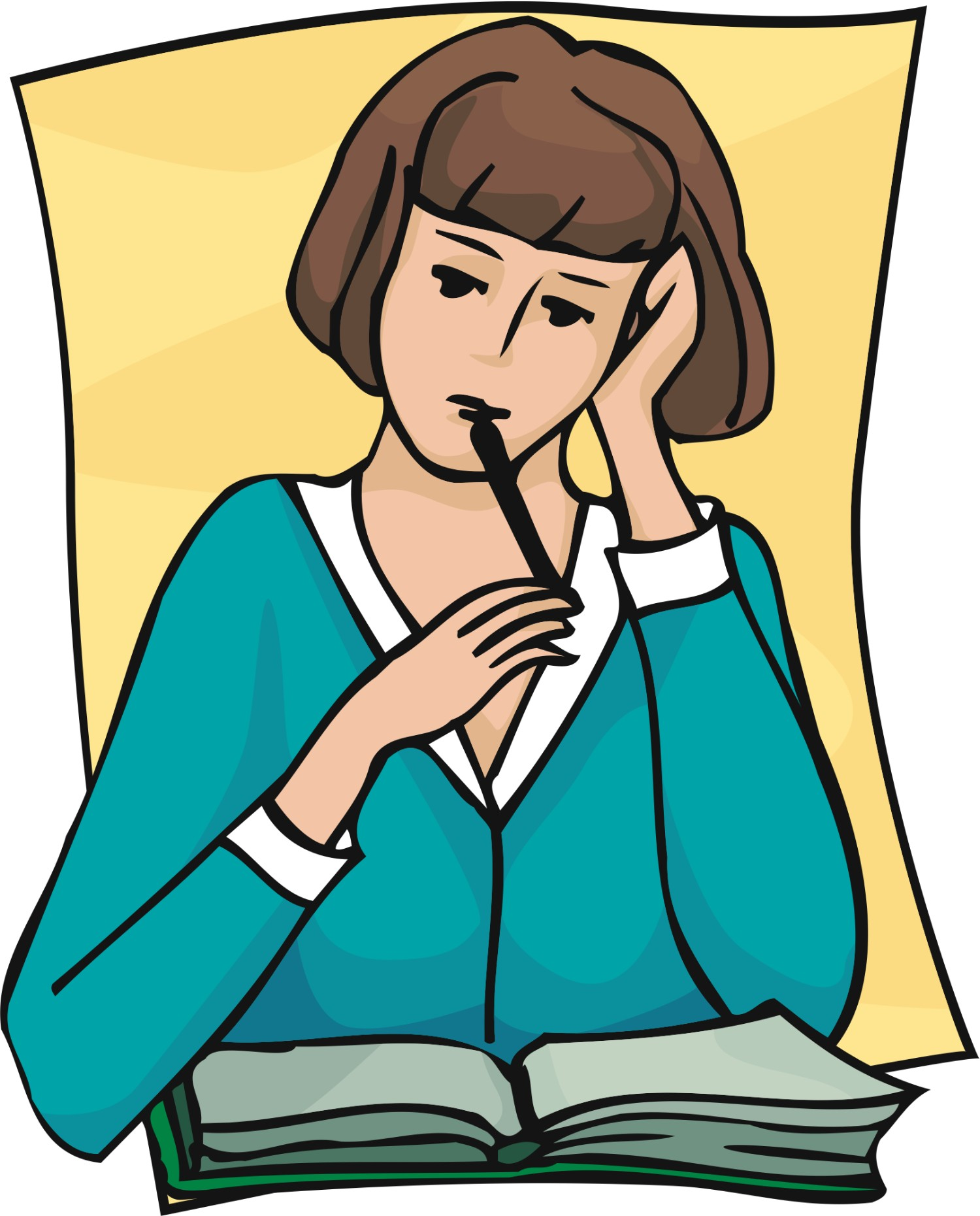 1500x1861 Reflection Clipart Student Thinking