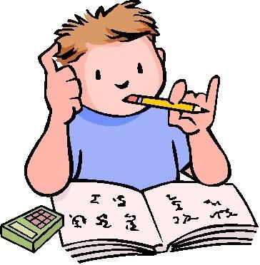 364x372 Homework Clipart Hard Working Student