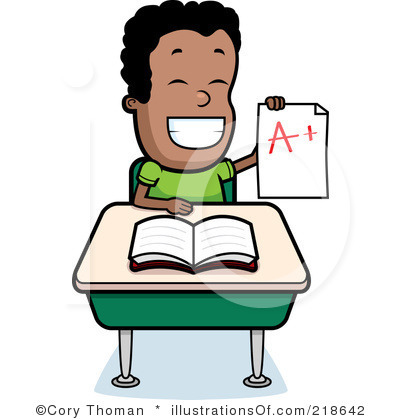 400x420 Students Working Clip Art