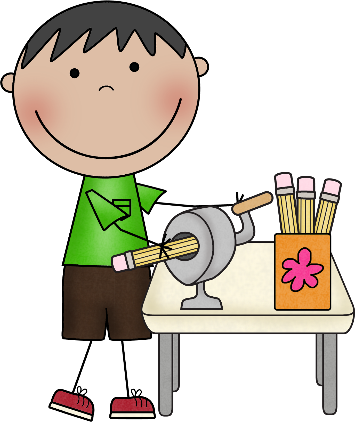 Calendar classroom. Students in clipart free