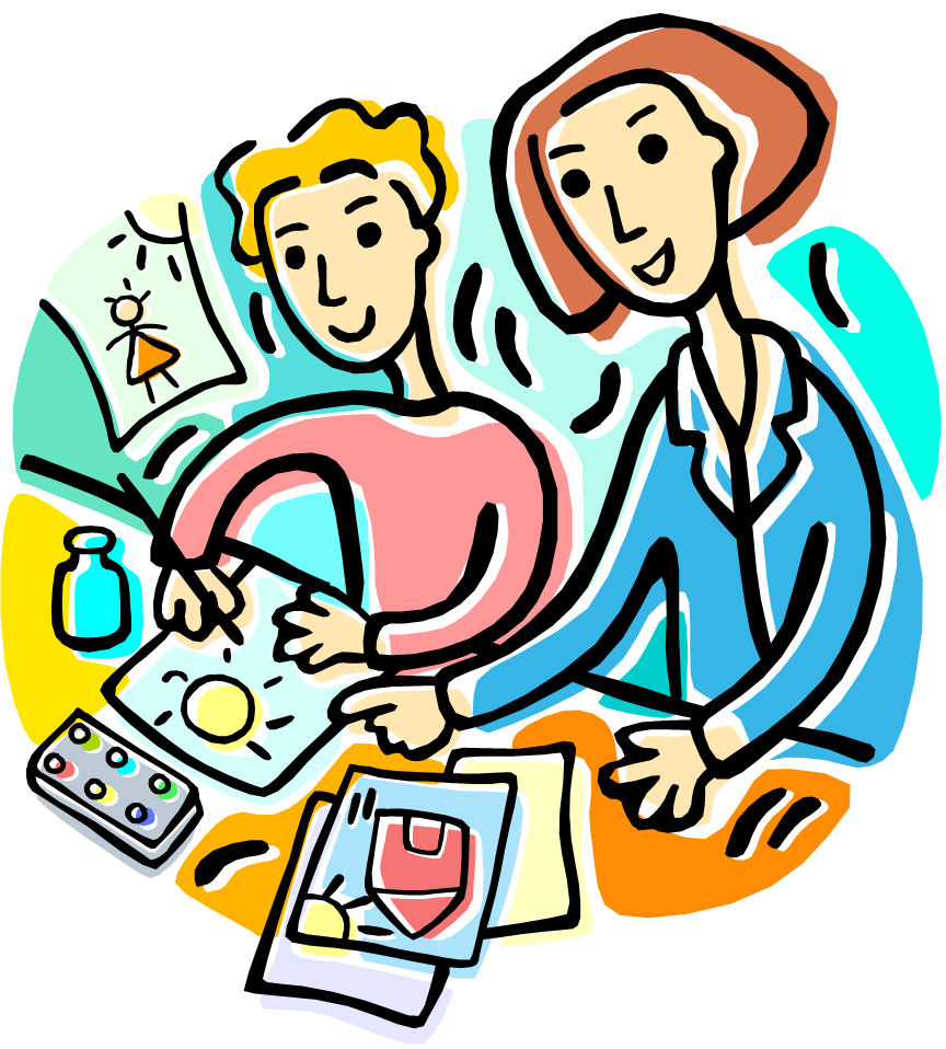 864x958 Teacher Helping Student Clipart