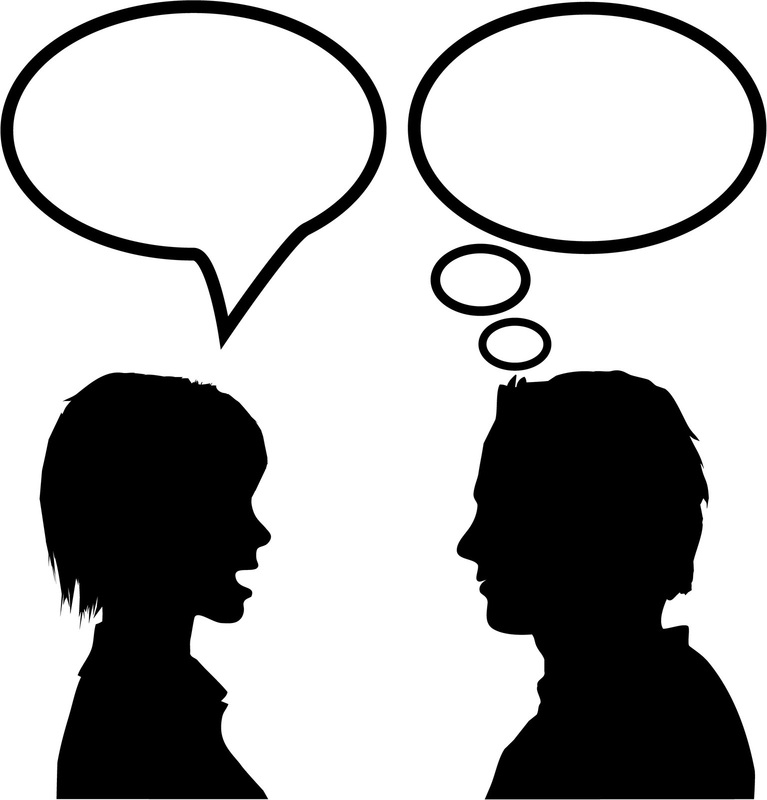 767x800 Clipart Of People Talking