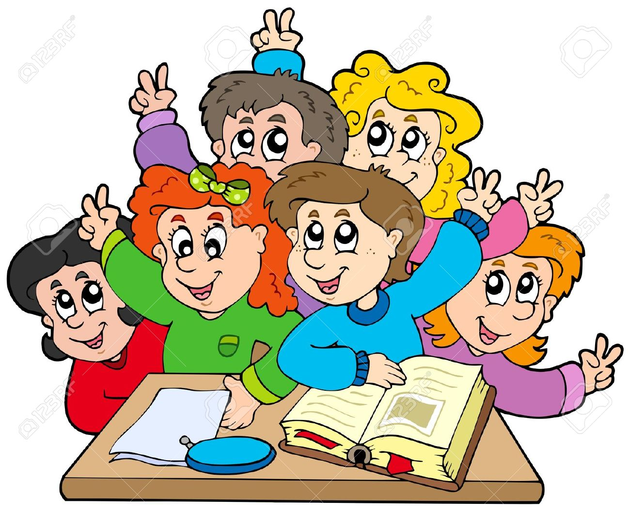 1300x1060 Group Of Students Clipart