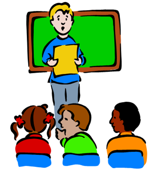 500x555 Student Speaking Clipart