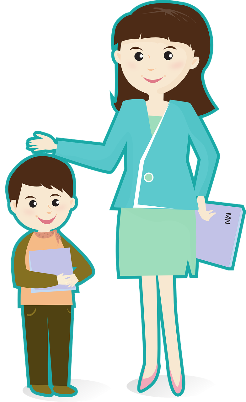784x1280 Student Teaching Clipart
