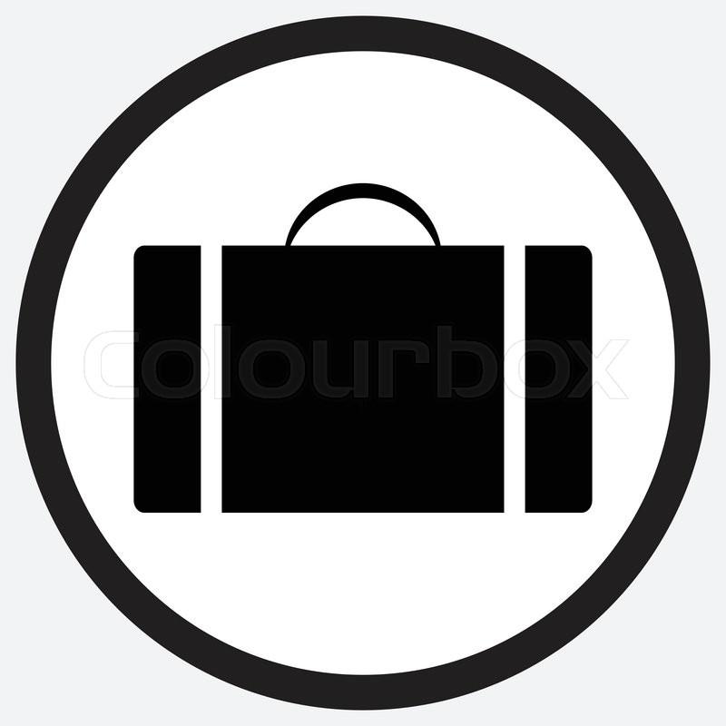 800x800 Case Icon Monochrome Black White. Suitcase Case Study, Box