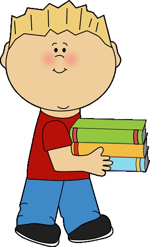 303x500 Child Studying Clipart