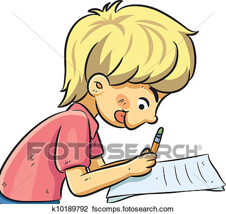 450x427 Clipart Of Boy Studying K10189792