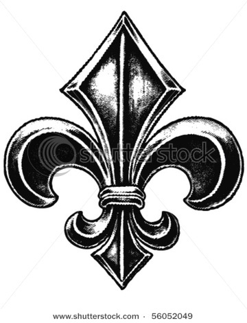 360x470 Fleur de lis is a stylized lily ( in French fleur means flower