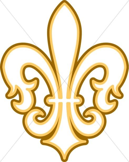 490x612 Gold and Brown Fleur de lis Fleur de lis