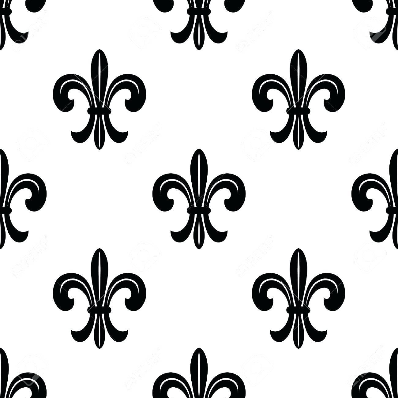 1300x1300 Black And White Fleur De Lis Wallpaper Best Images On Damask