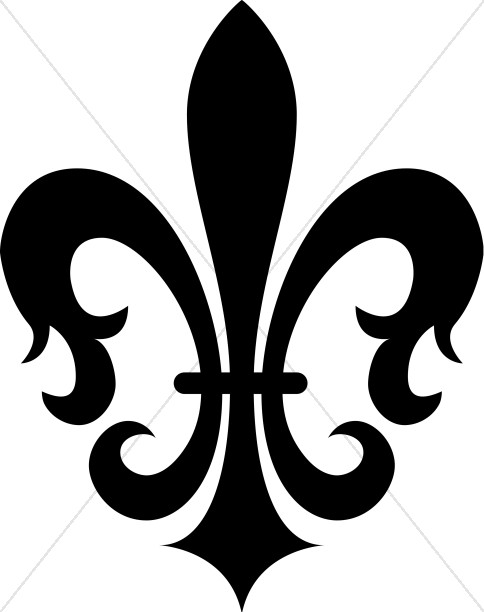 484x612 Black Decorative Fleur de lis Fleur de lis