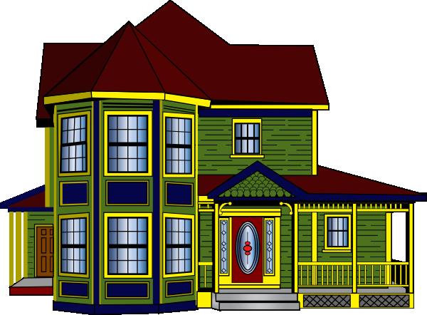 600x442 House Clipart Big House