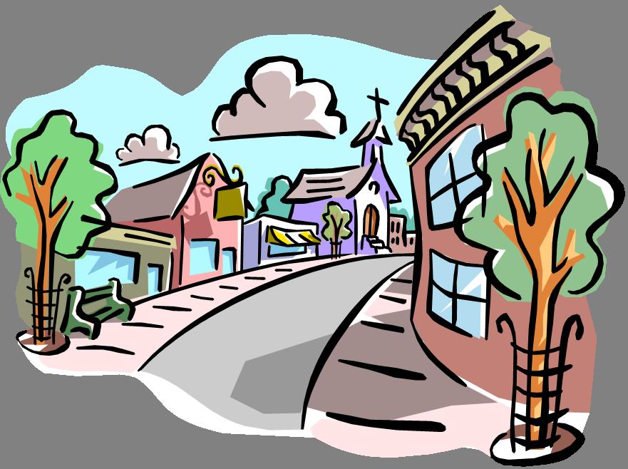 881x658 Town Clipart Neighborhood