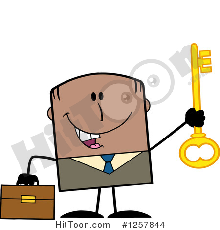 450x470 Black Businessman Clipart