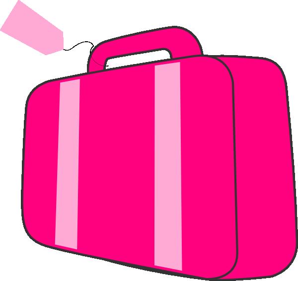 600x566 Pink Suitcase Clip Art