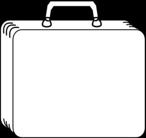 299x282 Plain White Suitcase Clip Art