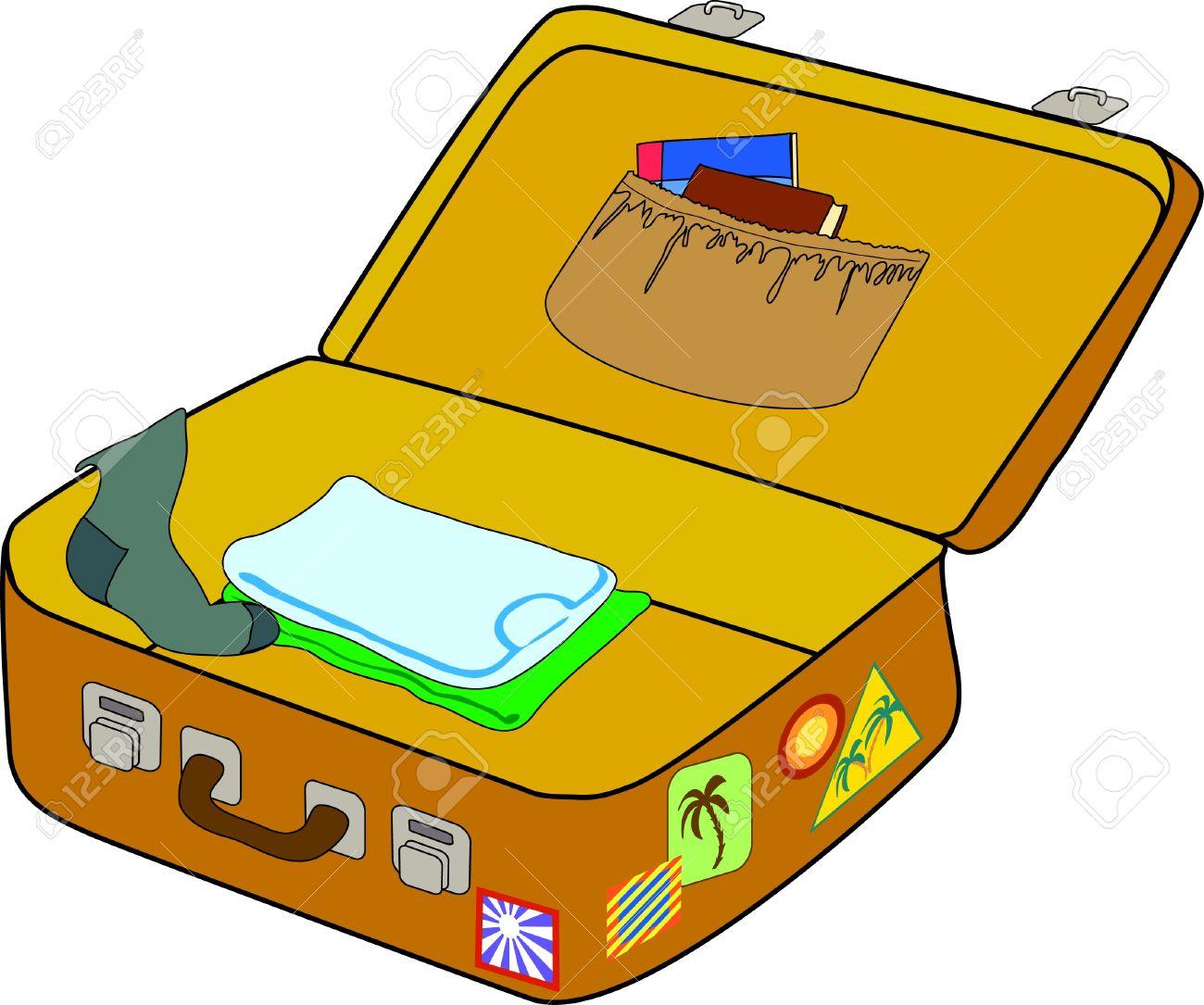 1300x1085 Suitcase Clipart Open Suitcase
