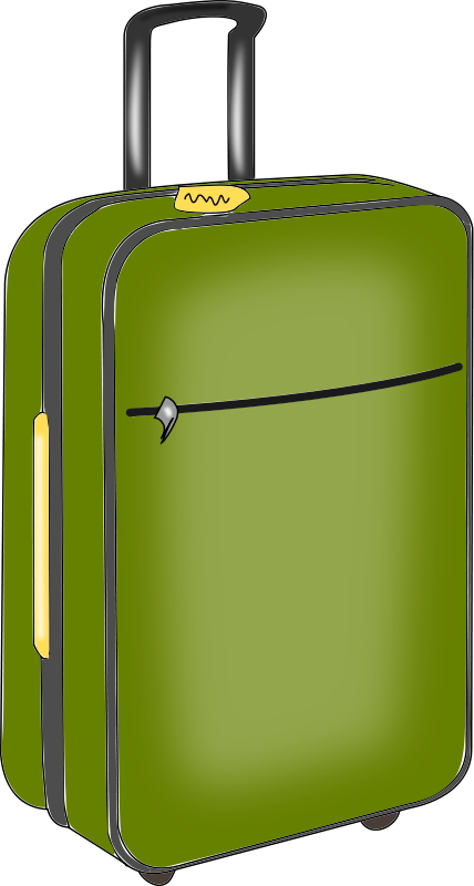 428x800 This Green Luggage Clip Art Is Clipart Panda