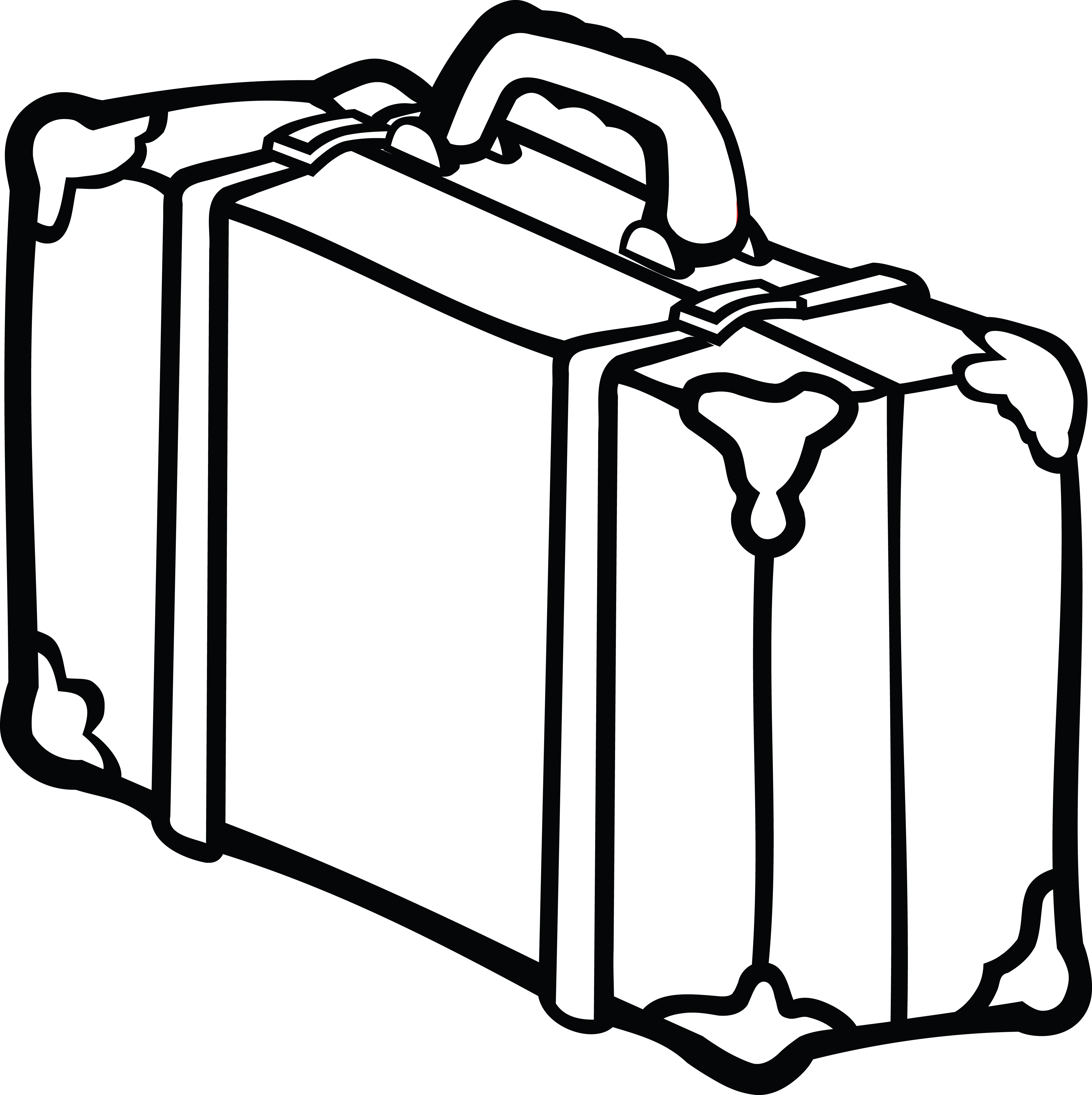 4000x4011 Clipart Of A Suitcase