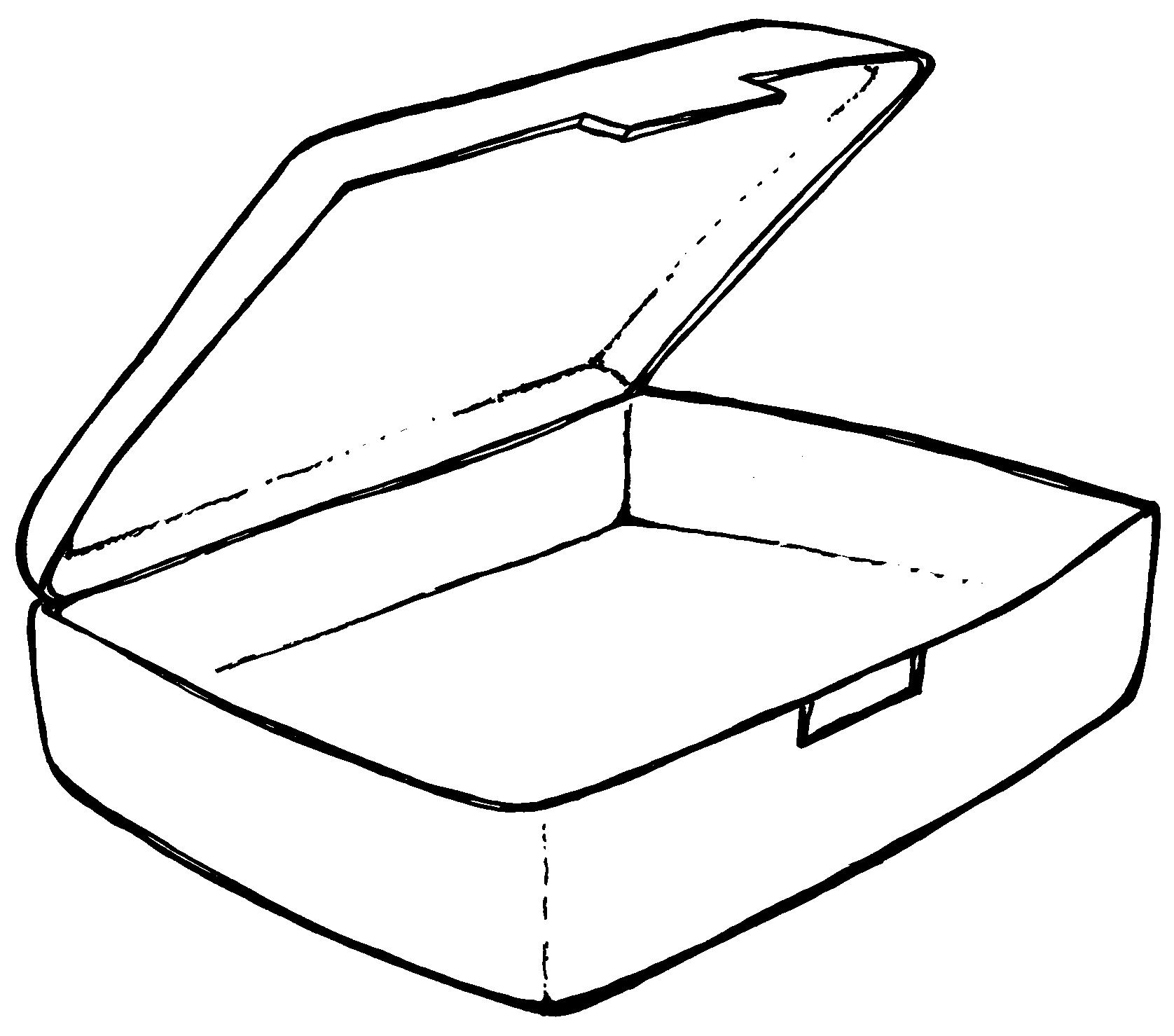1676x1479 Empty Lunch Box Clipart