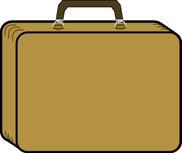 600x504 Little Tan Suitcase Clip Art