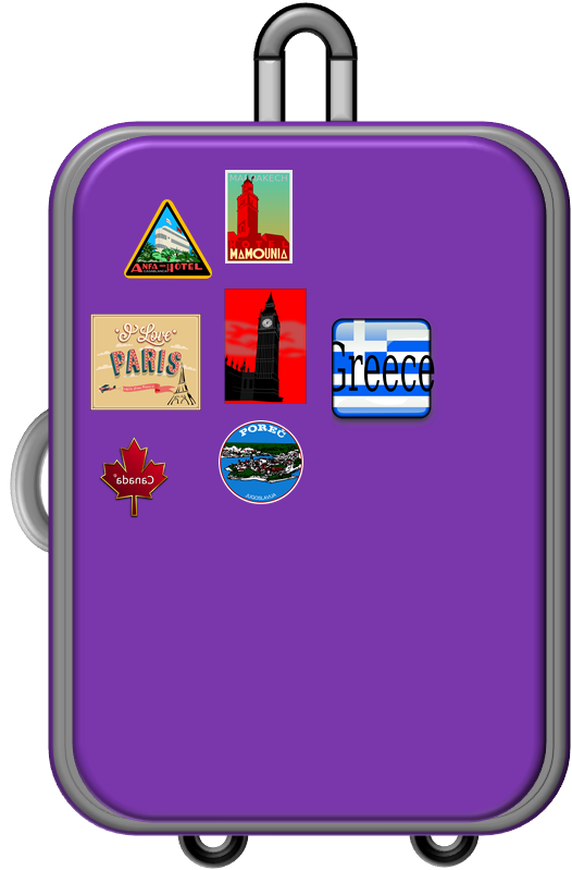 526x799 Suitcase Clipart Full Open
