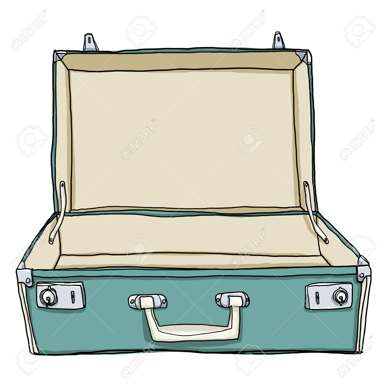 suitcase coloring page clipart free download best suitcase