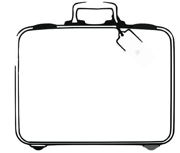 600x509 Suitcase Clipart Outline
