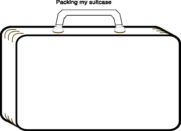 600x436 Templates Clipart Suitcase