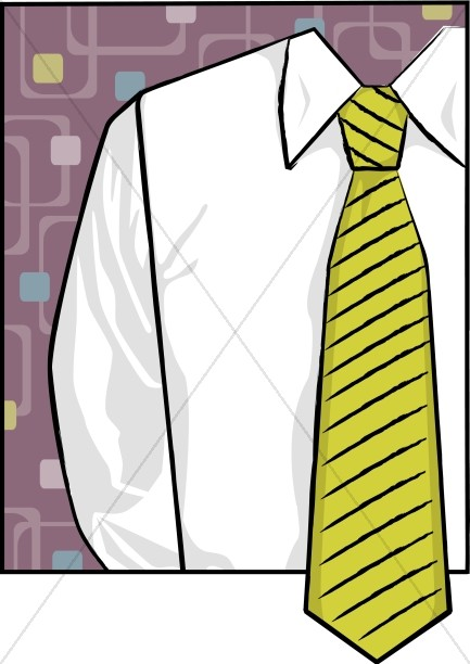 433x612 Shirt And Green Tie Father's Day Clipart Father's Day