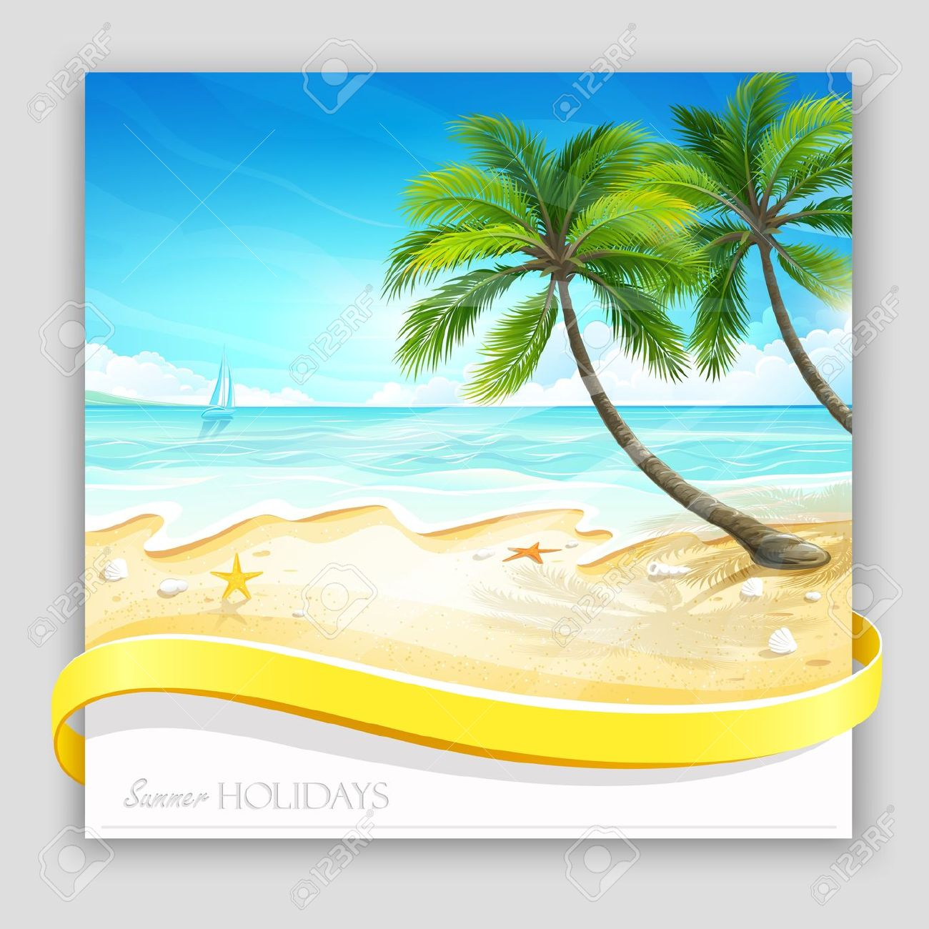 1300x1300 Island Clipart Summer Background