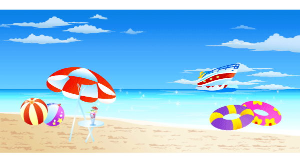600x325 Seaside Clipart Summer Background