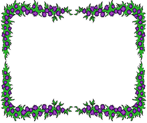 500x419 Free clipart flower borders