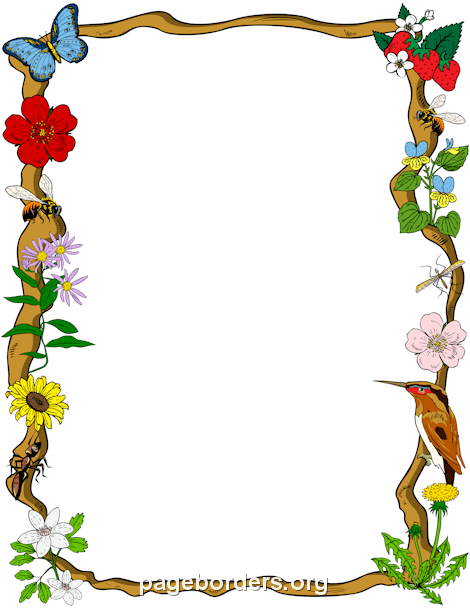 470x608 Nature Border Clip Art, Page Border, And Vector Graphics
