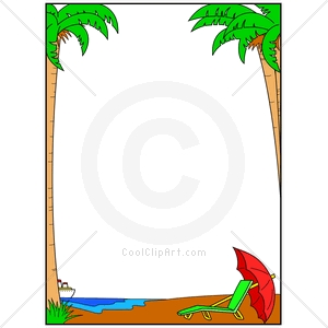 300x300 Summer Beach Border Clipart