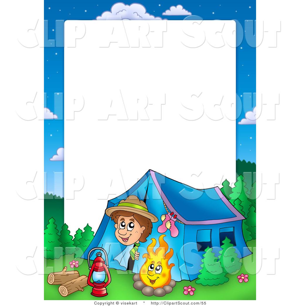 1024x1044 Summer Camp Border Clipart